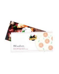 Compliment card drukken afbeelding