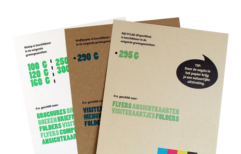 Milieuvriendelijk papier