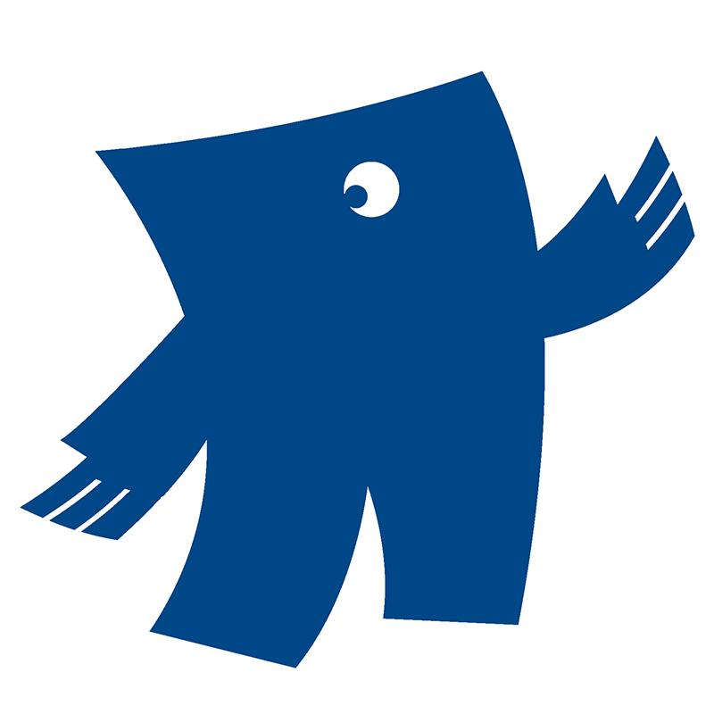 Blauw in drukwerk