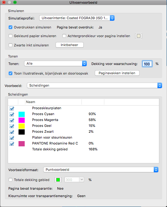 Uitvoervoorbeeld Adobe Acrobat